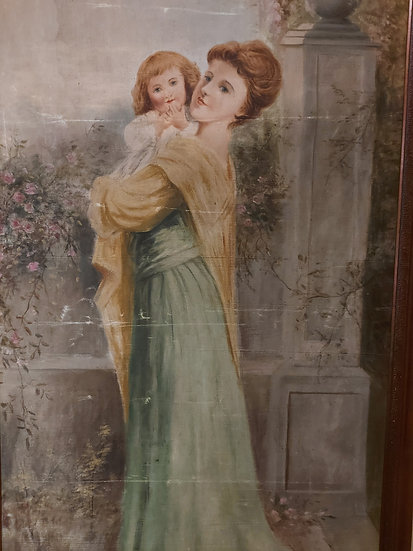 """theatre-lobby-oil-painting-74""""-tall"""