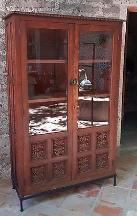 Carved Mahogany China Cabinet