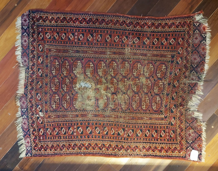 "Antique Esari, Turkoman Village Rug,  AS IS    42"" by 35"""