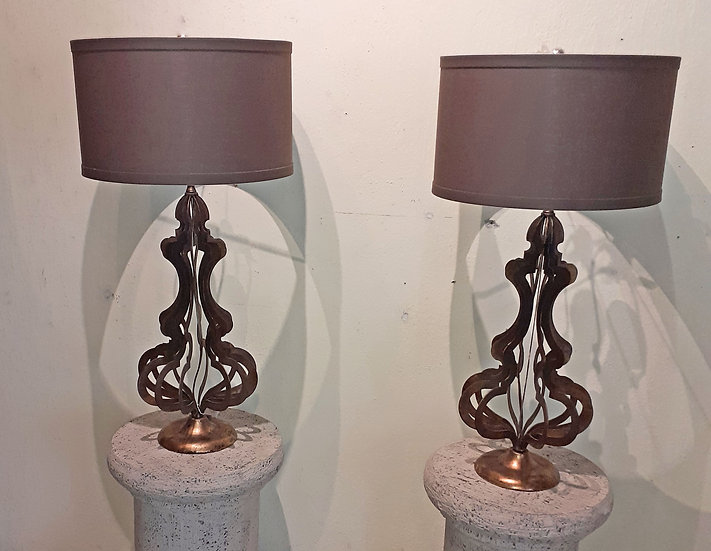 Modern Sculptured Metal Lamps,