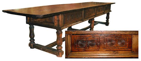 17th-C-Refectory-Table-Spanish-Walnut-Mudejar-Design
