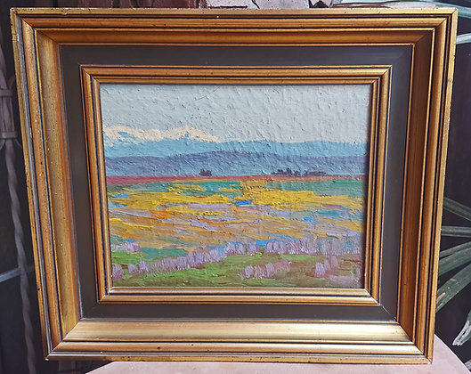 Plein Aire Artist, Unsigned, Oil on Board, Impressionist Painting