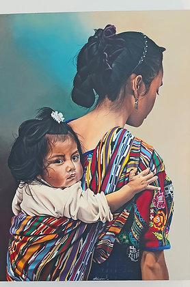"Cathy Chalvignac, ""Lola"",  Child in Cargador Cloth, dated '05"