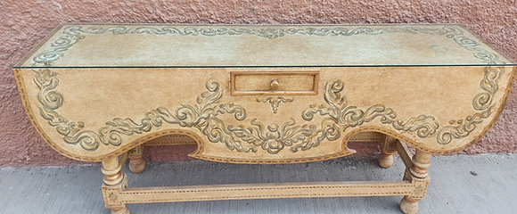 Hand Painted Mexican Console Table,  6' wide