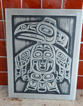 Inuit Aluminum Plaque,, N. W. Canada, Orchard Studios