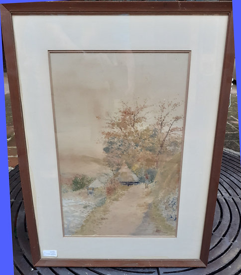 Early 20th C. Signed Japanese Water Color, Illegible Name