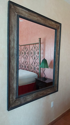 """Large Mexican Beveled Mirror, 47"""" wide by 59"""" tall"""