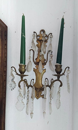 """Pair of Antique Bronze Sconces, Early 20th C.. 13"""" tall"""