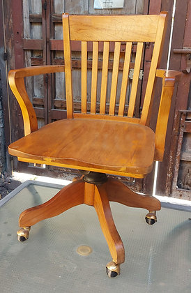 """Antique Office Chair,  37"""" tall, 24"""" wide, VG Condition"""