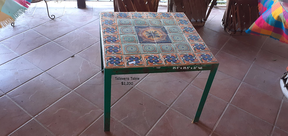 Mexican Talavera Table