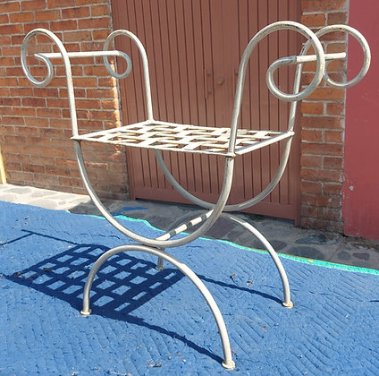 """Small Wrought Iron Bench, 30"""" long, 12"""" deep and 27"""" high"""