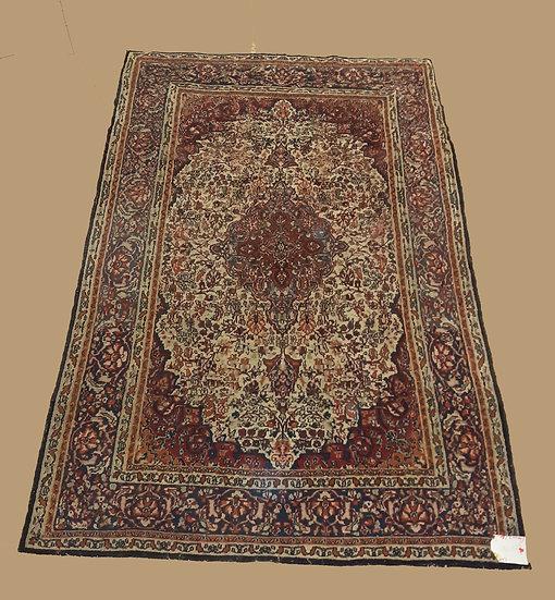 Semi-Antique Persian Nain Rug