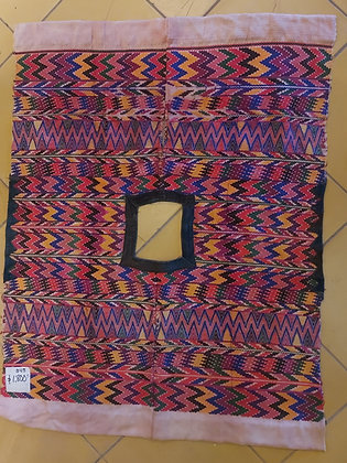 """Vintage Huipil, Southern Mexico,  33"""" x 42""""   Hand Woven"""