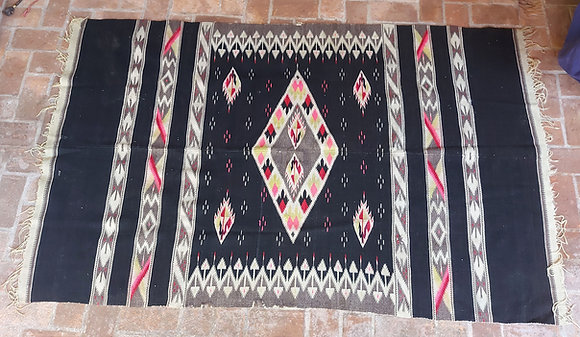 Vintage-Mexican-Sarape-Rio-Grande-Wool-Serape-Chimayo
