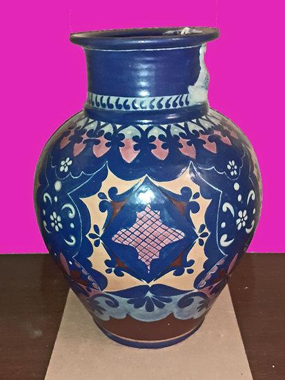 Mexican Talavera Vase, Jesus Guerrero Santos
