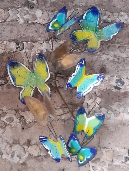 Enameled Butterfly Wall Sculpture