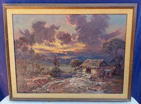 Jose Yepez Arteaga, 1962, Ecuador, Original Oil Painting
