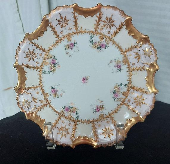 limoges-porcelain-hand-pianted-cabinet-plate