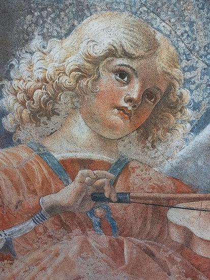 Melozzo-da-Fiorli-Fresco-Angel-playing-flute