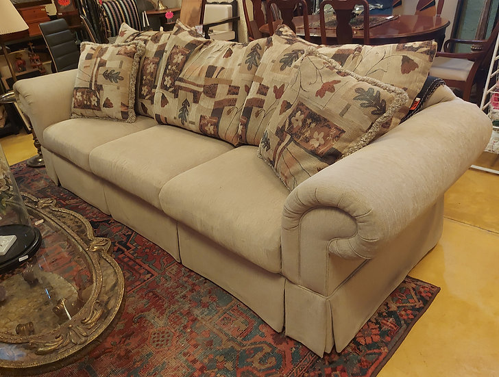 Large Comfy Sofa with Multiple Pillows