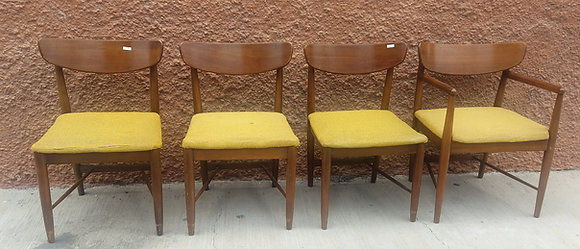 Mid Century Chairs (4), by American Martinsville,