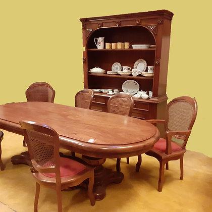'Antiguos de Mexico' Dining Room Set, Rosa Morada Tropical Wood