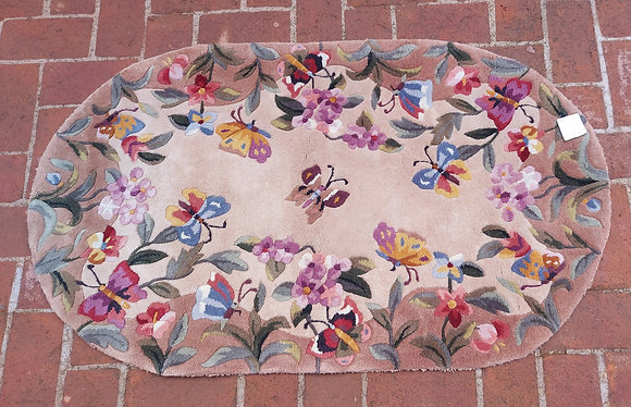 """Butterfly Bliss Design Rug by Royal Palace, China, 30"""" by 50"""""""