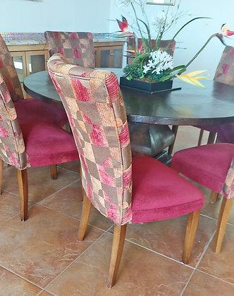 8 Dining Room Chairs, Custom Made
