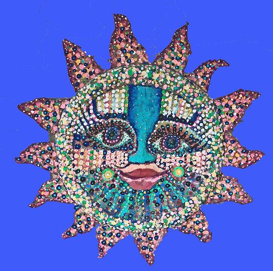 Painting of the Nahual Sun by Antonio Lopez Vega