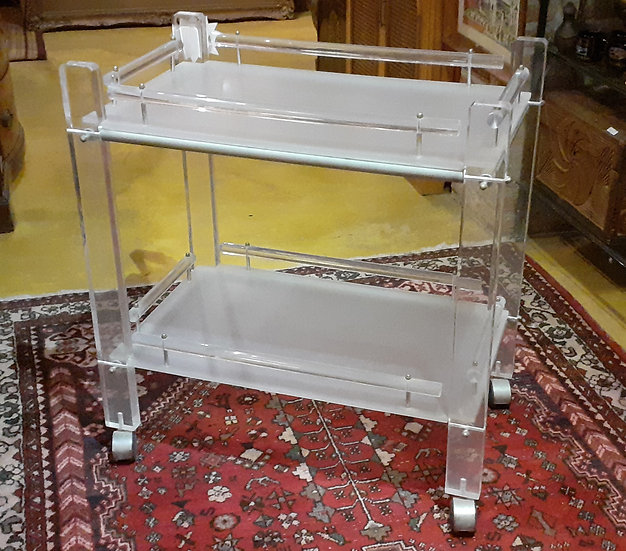 Lucite Tea Cart