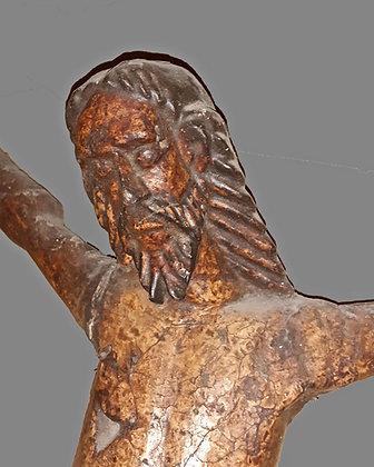 18th C. Corn Pulp Christ Figure, Michoacán, Mexico