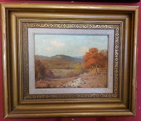 Porfirio Salinas (1910 - 1973), Hill Country Texas, Red Oak in Autumn