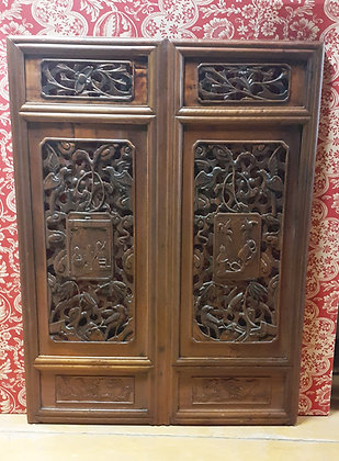 Hand carved Chinese window divider