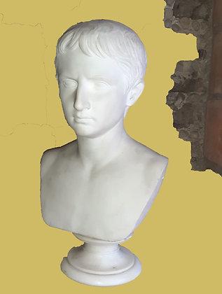 Marble Bust by Antonio Frilli, Italian 19th C. Artist