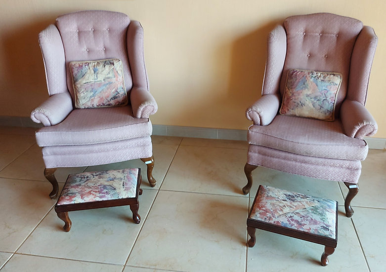 Two Small Scale Wing Back Chairs, Priced Separately