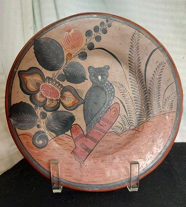 "Tonala-bruñido-plate-8""-Jimon-owl"