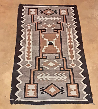 Vintage Navajo Weaving,  Two Grey Hills Area, New Mexico