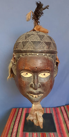 """Yombre Sorcerers Mask, Congo, 15"""" tall"""