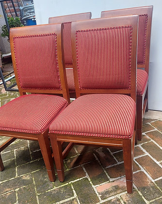 """Set of 6 Red Dining Room  Chairs,  37"""" tall,  19"""" Seat Width"""