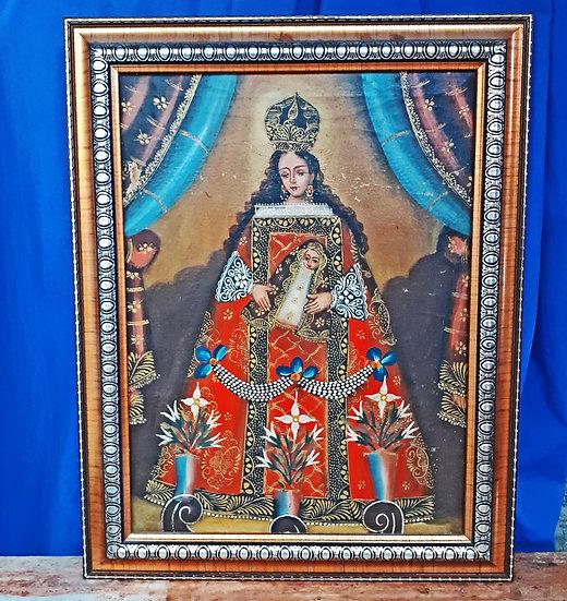Peruvian Painting of Madonna and Child, Cusco School