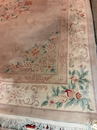 "Light Colored Chinese Rug,  9' 2"" x 12' 2"",  As-is"