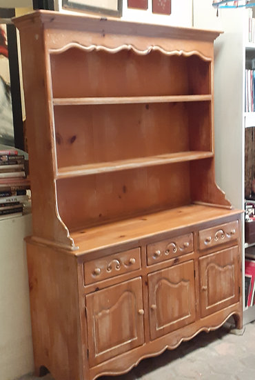 Knotty Pine China Hutch