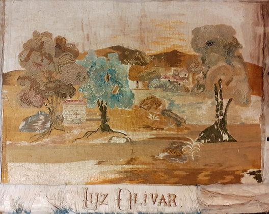 silk-embroidery-19th-Century-Mexico-Luz-Olivar