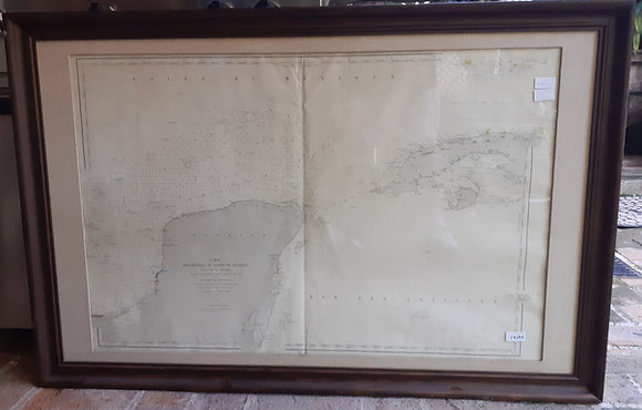 Des Entrees du golfe du Mexique, Maritime Map 1862