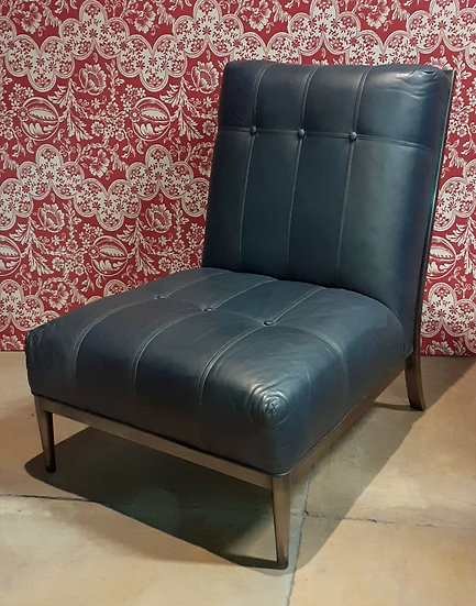 Pair of Leather Ethan Allen Lounge Chair