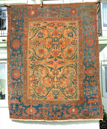 """Antique Palace Mahal, Reduced in Size, 3.15m x 2.44m (10'4"""" by 8')"""