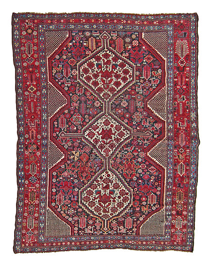 "Khamseh Confederation,  69"" by 88"" , Tribal  Rug,  SW Iran"