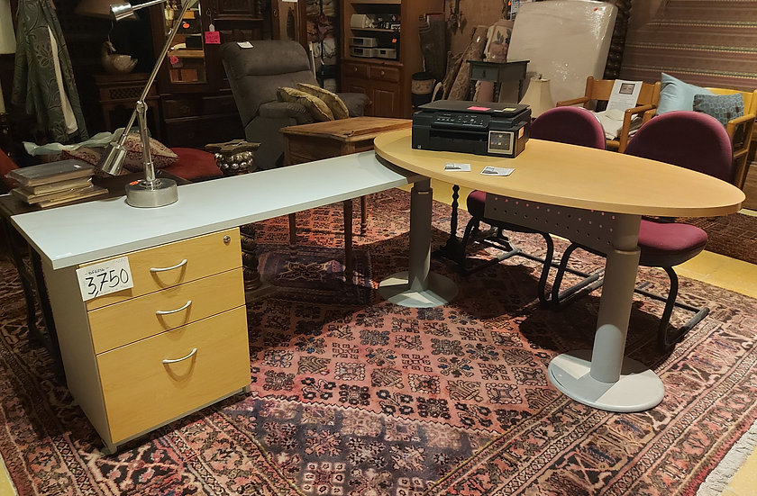 Contemporary Office Desk, 2 Piece, Sectional, Two Available
