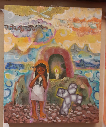 Antonio Lopez Vega, Oil on Board, Ajijic Artist