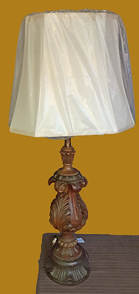 Marbro Hand Carved Wooden Lamp